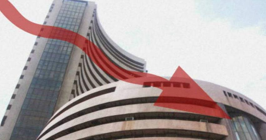 by 624 points on tuesday, hdfc shares fall sharply
