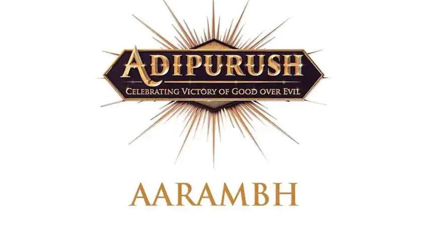 shooting of adipurush started prabhas gave information by tweet anjsnt