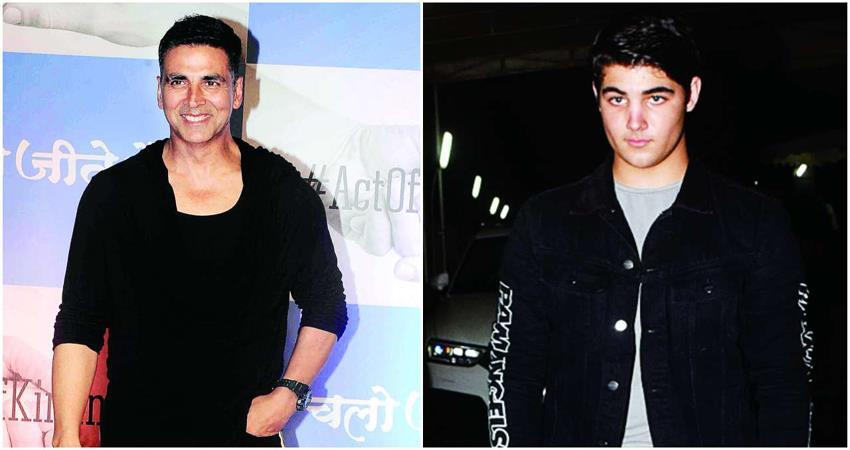 akshay kumar son aarav spotted in mumbai with new hairstyle