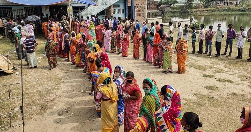 west bengal fifth phase polling saw crowd of voters, polling 54 percent till 1 pm anjsnt