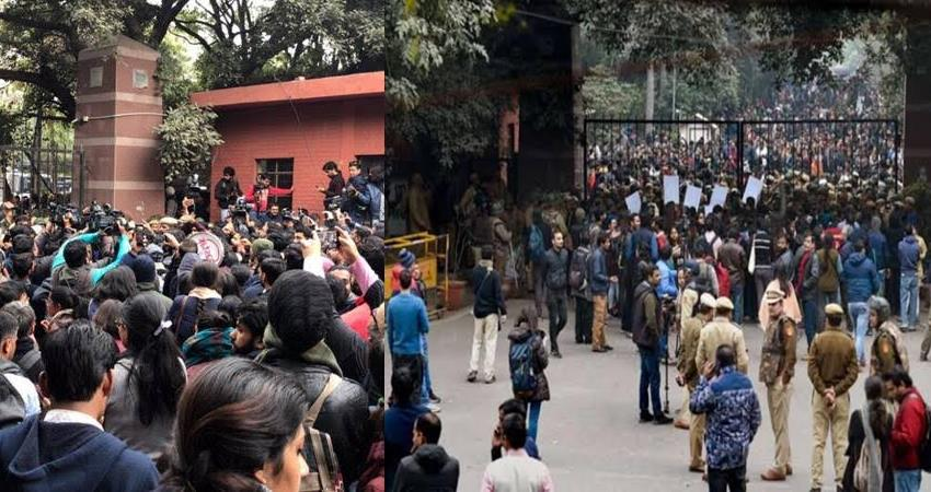 jnu violence teacher-students will march today demanding removal of vc