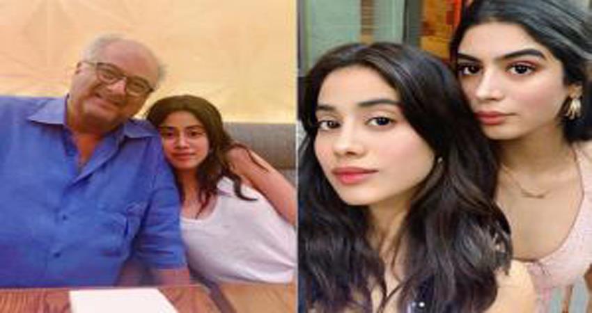 janhvi kapoor reunites with sister khushi and dad boney kapoor in new york