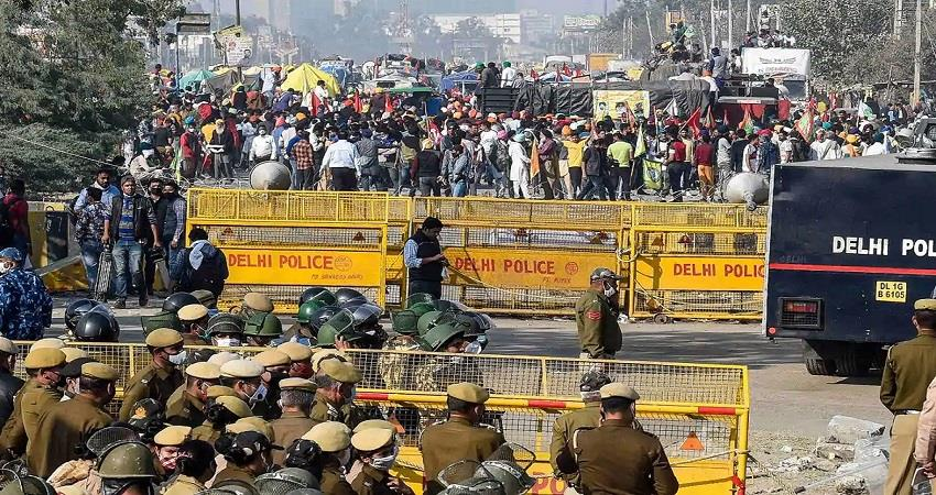 list of closed delhi borders due to farmers protest kmbsnt