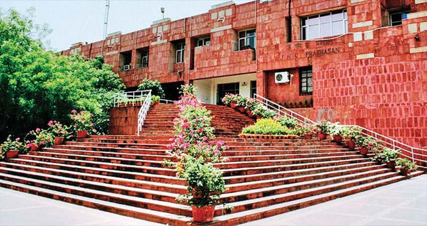jnu employee protest and they will tie black band