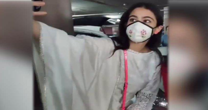 sara ali khan refuses to remove mask video viral sosnnt