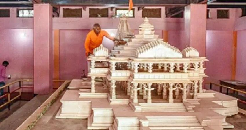 new design of ram temple ready, 50 thousand people will be able to worship together prshnt