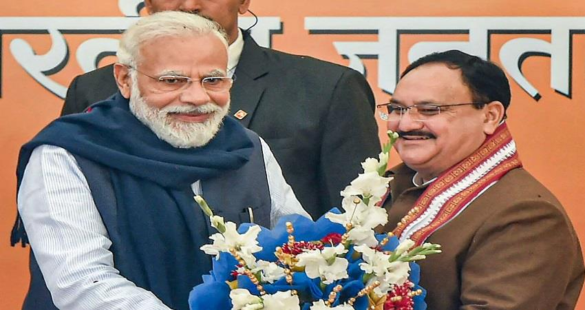 bjp jp nadda on pm narendra modi government 2 historic achievements pragnt