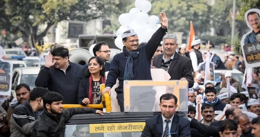 arvind kejriwal to hold roadshows in matiala and kalkaji delhi elections 2020