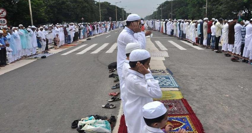 up police namaz will not be read on the road nor will there be any religious event
