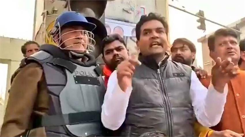 kapil mishra bjp leader jibe delhi police action caa nrc npr protest shaheen bagh amid corona