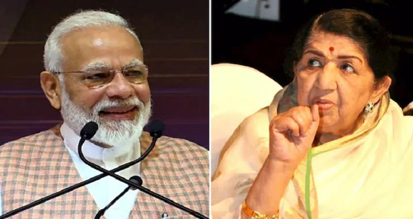 pm narendra modi wishes lata mangeshkar on 92nd birthday