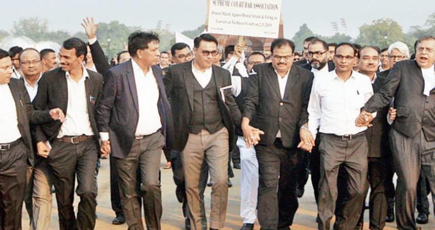 uttar pradesh lawyers strike demanding advocates protection act