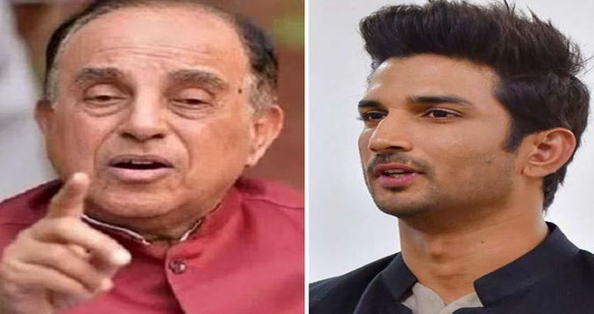 subramanian swamy question why was glass from which sushant singh rajput last drunk jsrwnt