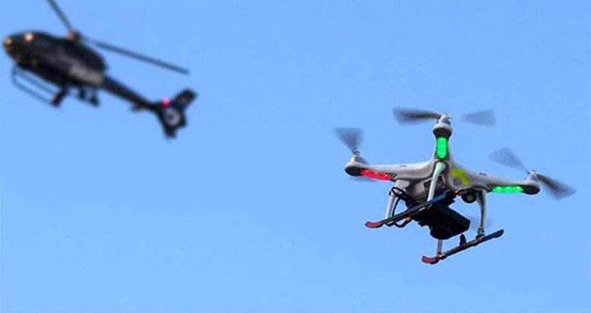 pakistan''''''''s drone seen on the international border in jammu musrnt