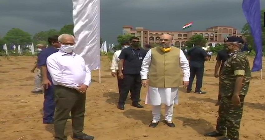 amit shah arrives to participate in tree plantation drive of central armed police forces sohsnt