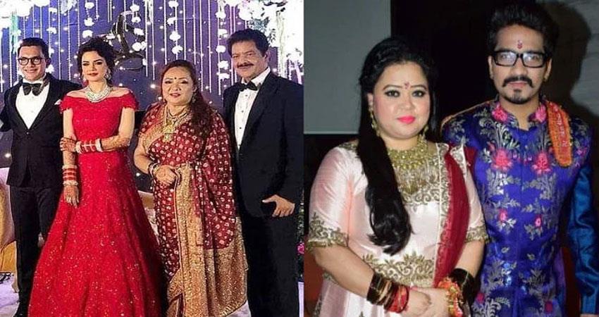 bharti-singh-and-haarsh-attend-aditya-narayan-wedding-reception