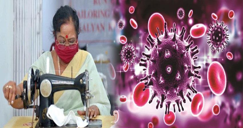 first lady savita kovind stitched masks ANJSNT