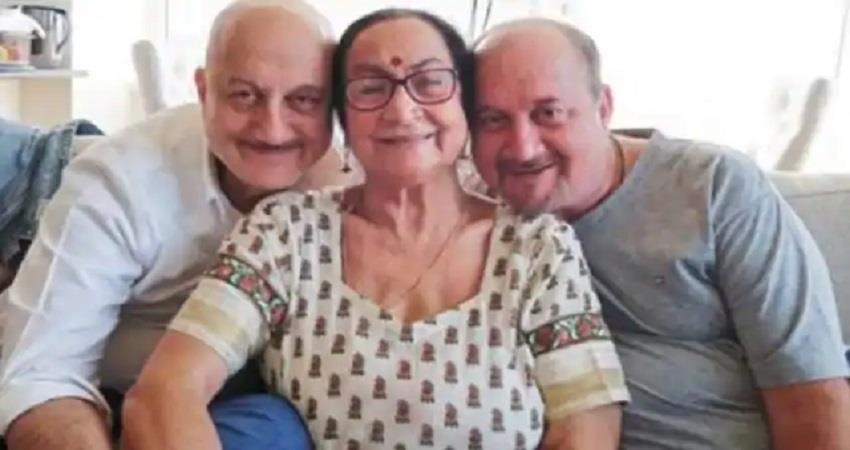 anupam kher mother corona positive bollywood news sobhnt