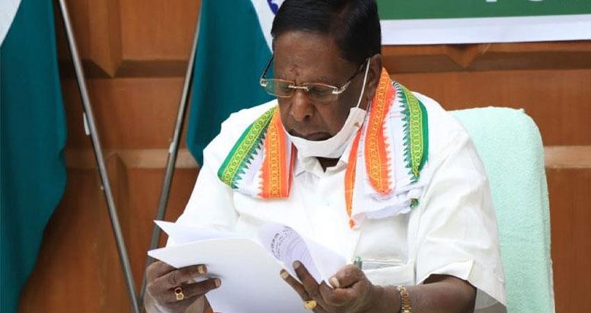 puducherry cm narayanasamy makes serious allegations against center pragnt