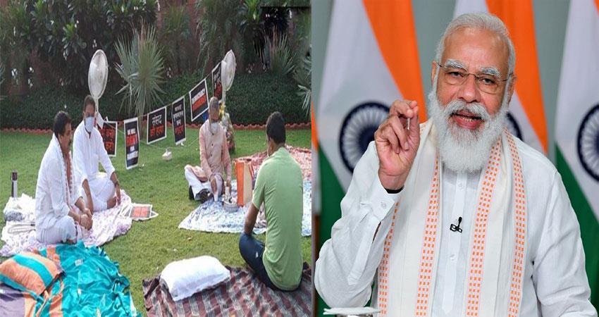 harivansh arrives to serve tea to suspended mp, pm modi applauds musrnt