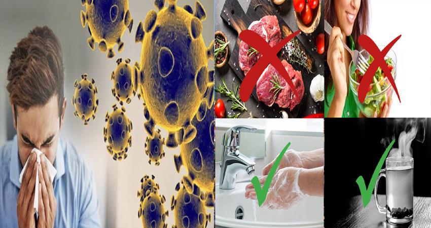 what not to eat to prevent coronavirus