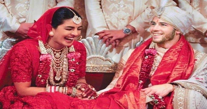 priyanka chopra nick jonas first wedding anniversary viral photos