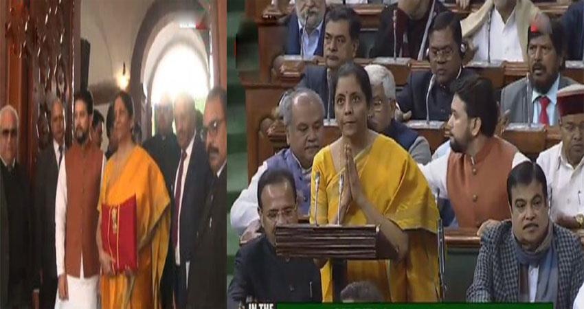 fm nirmala sitharaman presents union budget 2020-21