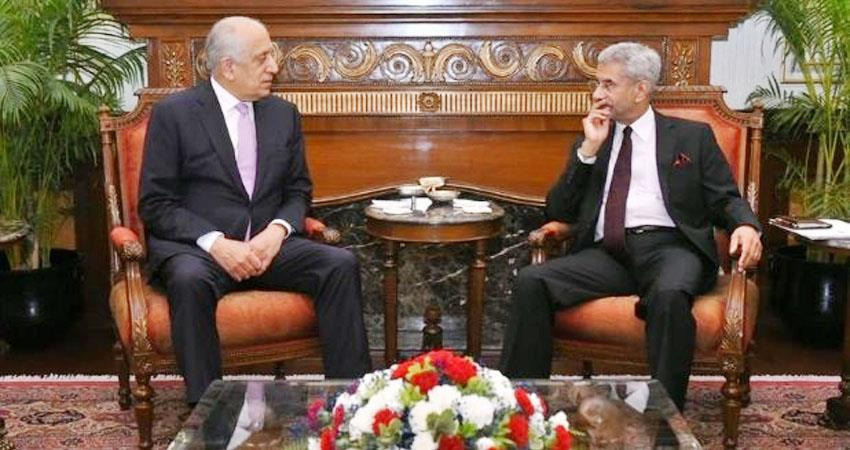American envoy Khalilzad will visit India today for Afghan peace talks prshnt