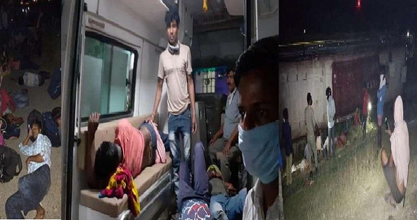 bus carrying workers overturned 35 migrant worker injured in prayagraj up pragnt