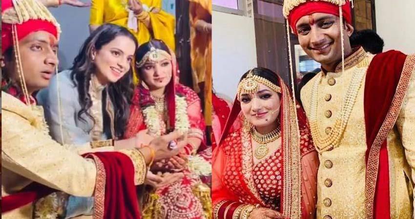 kangana ranaut shares video of her brother karan wedding sosnnt