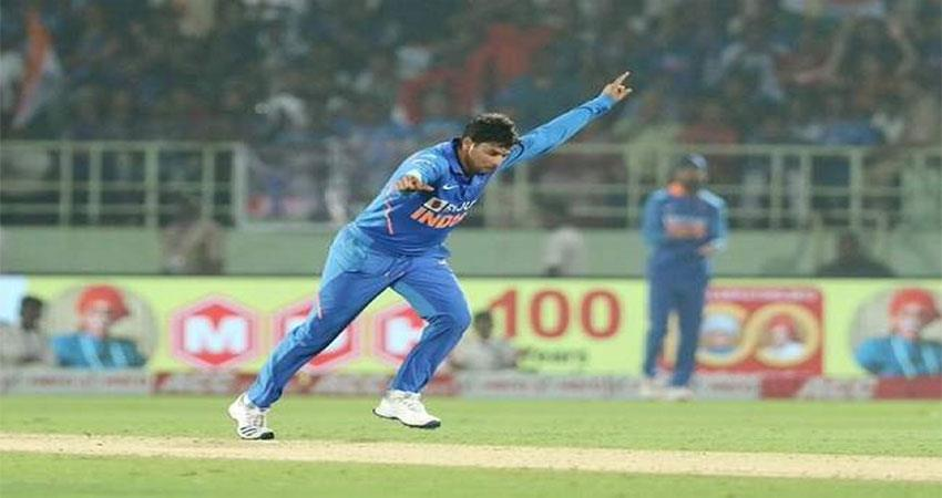 kuldeep yadav takes 2nd hat trick in one day cricket during ind vs wi match