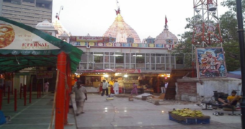 sanitizer tunnel installed in hanuman temple at connaught place sohnst