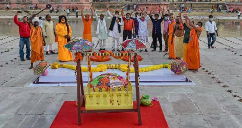 ram mandir bhoompipujan guest list mohan bhagwat iqbal ansari  sobhnt