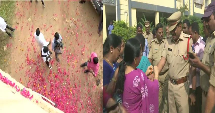 hyderabad people happy after encounter of rape murder case accused