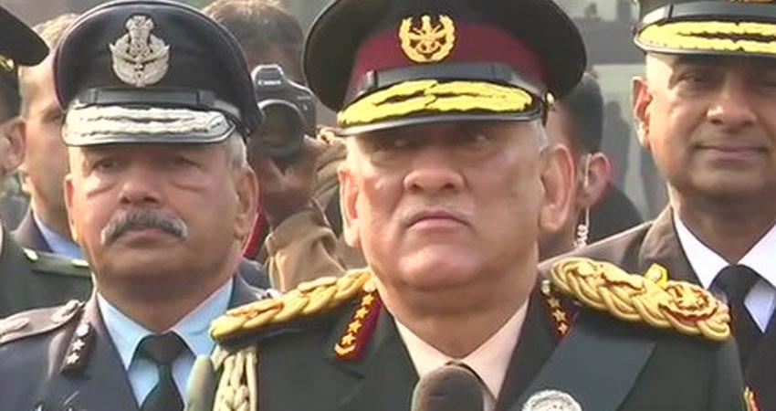 chief of defense staff cds general bipin rawat first reaction on army politicisation accusations