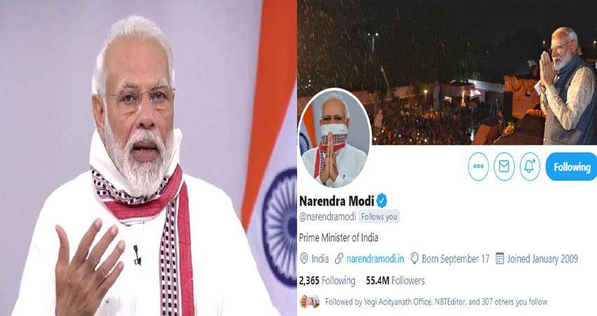 pm narendra modi twitter profile photo change gamchha mask covid19 pragnt