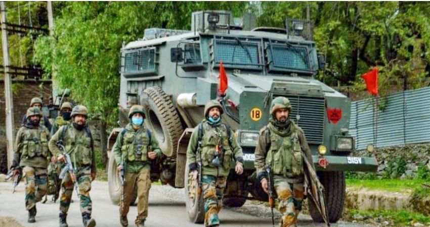 Encounter in Sopore area three terrorists including a notorious Lashkar killed prshnt