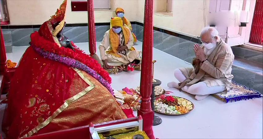 pm modi worshiped joshireshwari kali musrnt