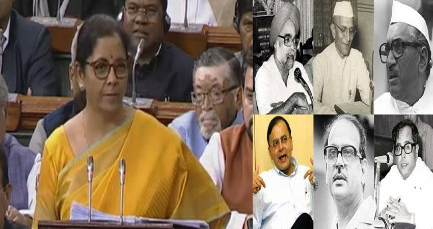 sitharaman read the budget for 160 minutes