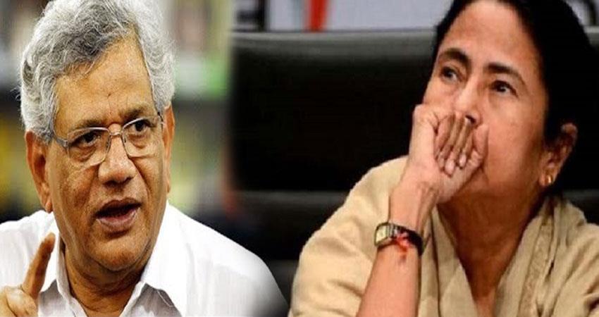 sitaram yechury accuses tmc mamata government adopts tough stand against left pragnt