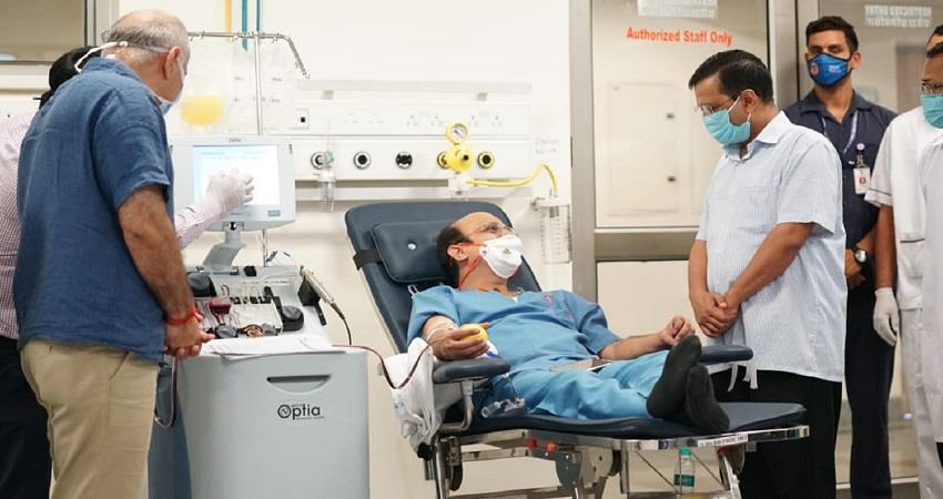 delhi plasma bank first day report ilbs hospital coronavirus pandemic kmbsnt