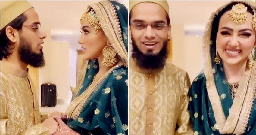sana khan and husband anas sayied new video goes viral aljwnt