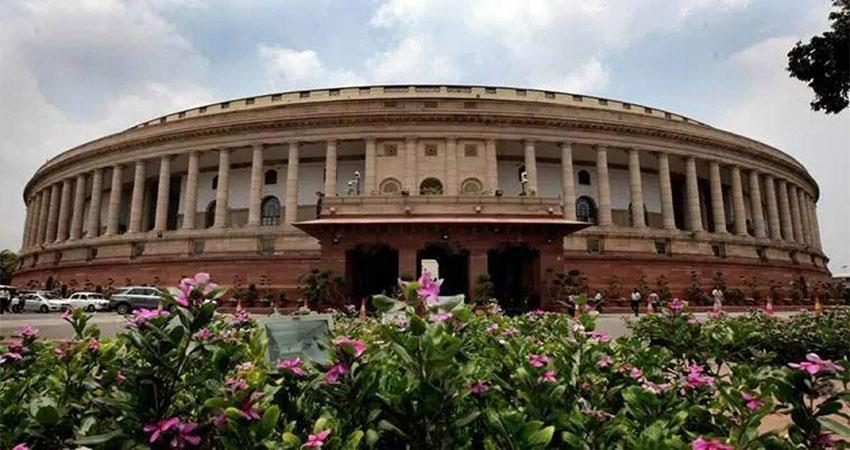 controversy over congress mp tossing papers, parliament adjourn musrnt