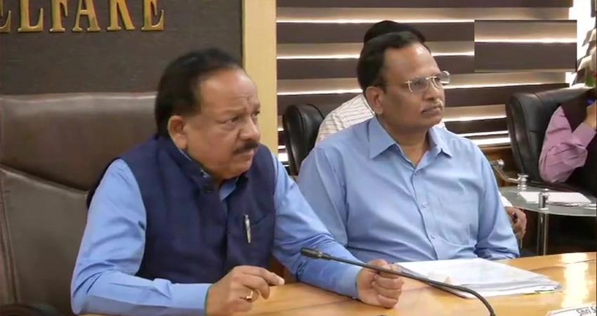 coronavirus dr harsh vardhan meeting with senior officials from delhi aap government