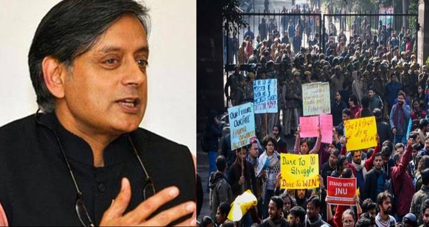 jnu violence students protest against the caa the old tradition alive shashi tharoor