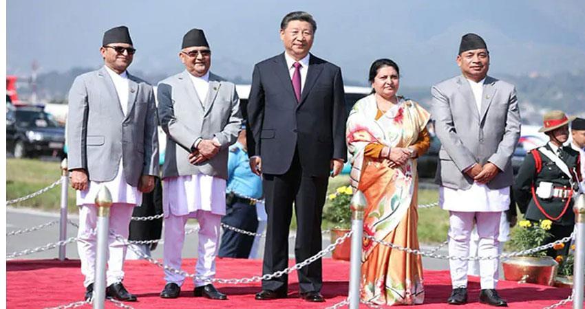xi jinping general secretary of china visit nepal promice to give 56 billion nepalese rupees to nepal