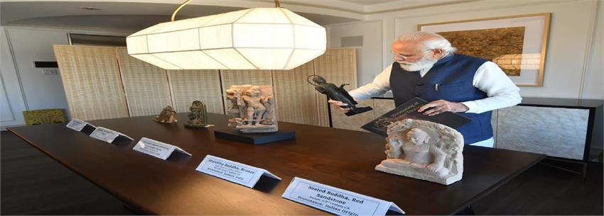157 artifacts and antiquities to return from us with pm''''''''s efforts
