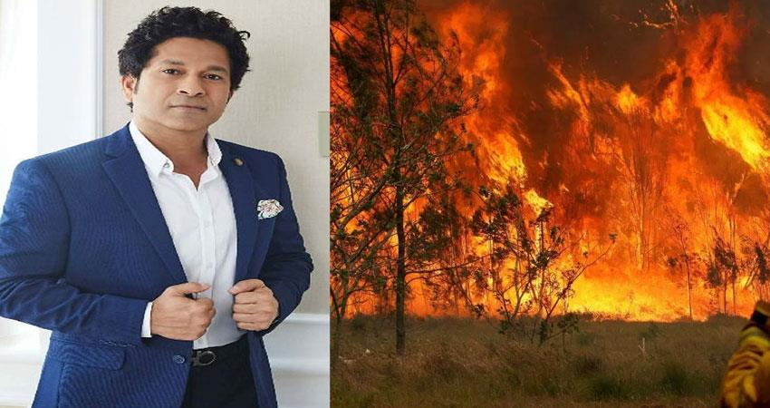 sachin tendulkar will be the head coach in the charity match for the fire in the forests