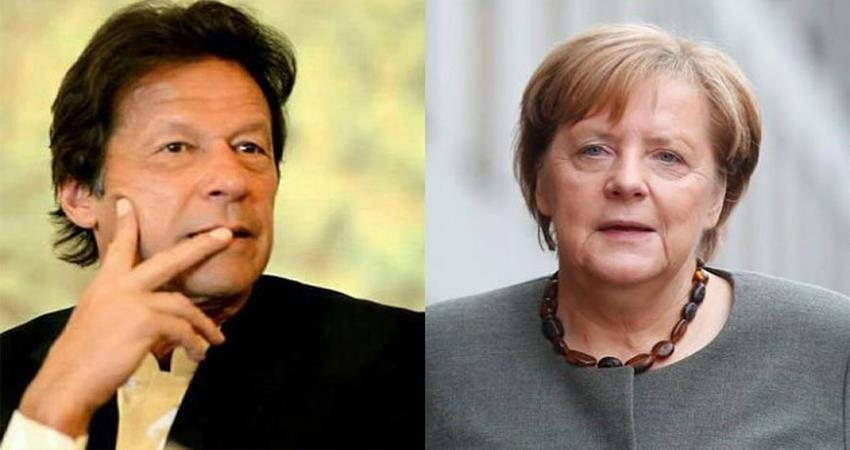 kashmir issue pakistam pm telphponic conersation with germany pm