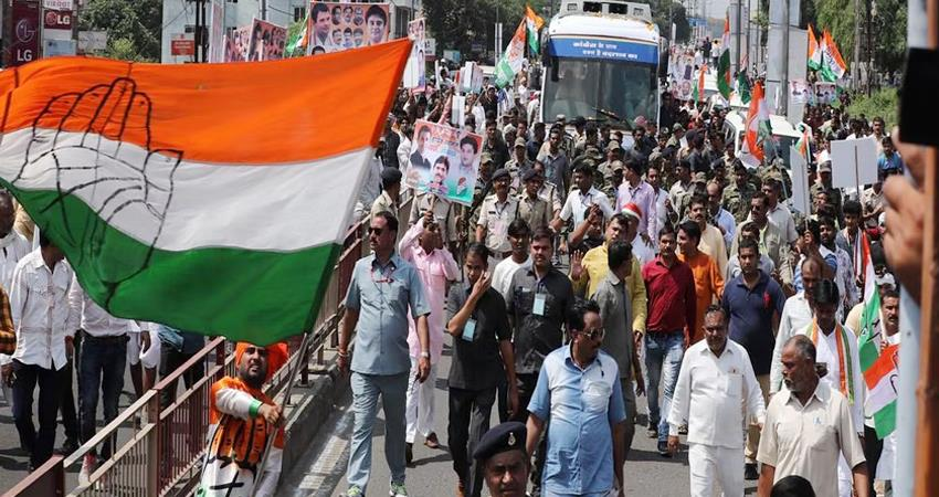 Congress MLA''s tractor rally against new agricultural laws in Bhopal PRSHNT